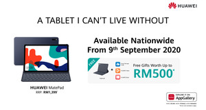 Enjoy Freebies Up To RM500 With The HUAWEI MatePad Pro During the 9.9 Sale