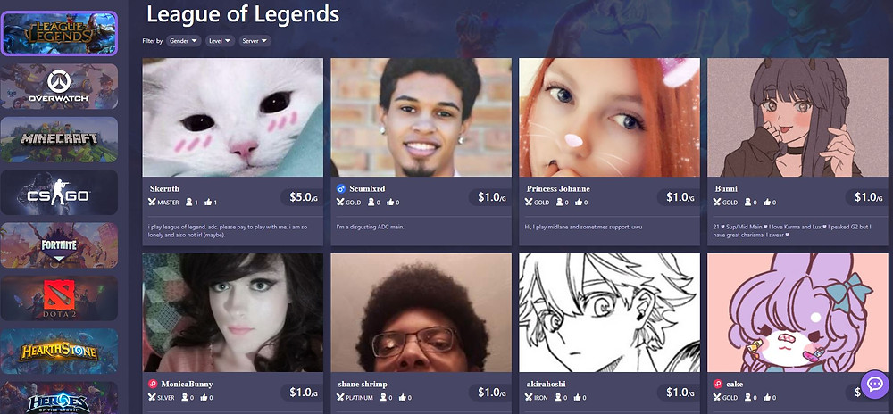 This Website Allows You To Pay E Girls To Play Video Games With You