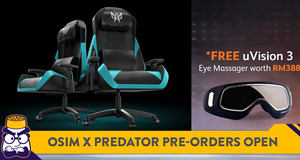 Pre-Order The Predator X OSIM Massage Gaming Chair Now at Half the Retail Price