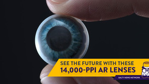 Fancy Having a 14,000-PPI Display On Your Eyeball? These 'Smart' Contact Lens Might Be Up Your Alley