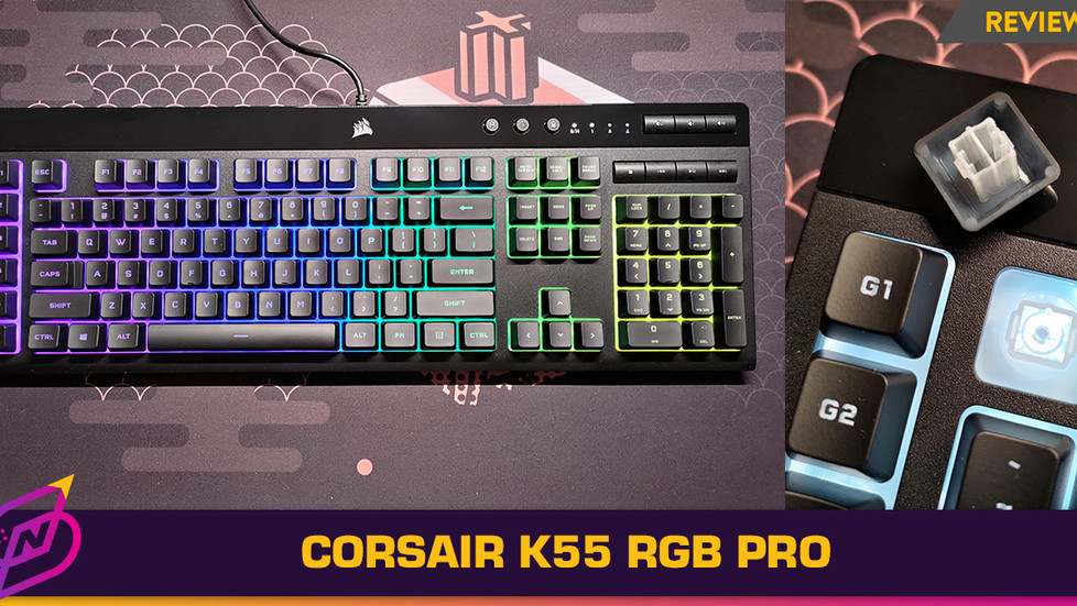 [Review] An Entry-Level Gaming Keyboard with Generous Features: The Corsair K55 RGB Pro