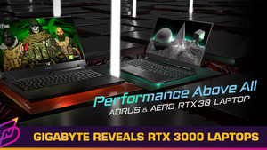 GIGABYTE Announces RTX 3000 Series AORUS and AERO Laptop Lineup