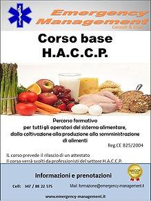 emergency management corso haccp
