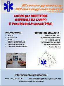 emergency management corso direttore ospedale da campo