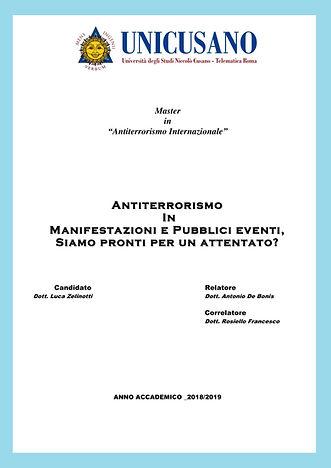 Master in Antiterrorismo Internazionale