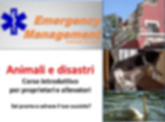 emergency management corso animali e dsastri naturali