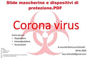 Corona virus cinese Wuhan 2020 corso di