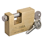 Candado rectangular anticizalla latón 70 mm