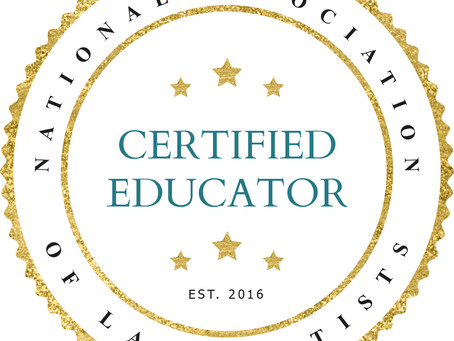 GET TRAINED BY AN AWARD WINNING NALA CERTIFIED EDUCATOR/CERTIFIED MASTER EDUCATOR