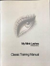 Classc Eyelash Extension Training Manual - My Mink Lashes & Training Academy