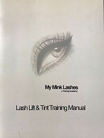 Lash Lift & Tint Trining Manual - My Mink Lashes & Training Academy