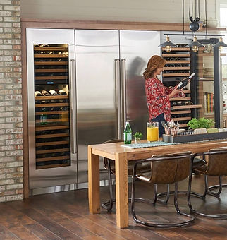 Viking refrigerator and wine cellar with
