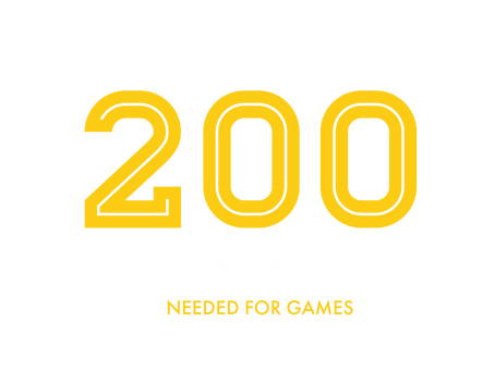 UP TO 200 VOLUNTEERS NEEDED FOR GAMES