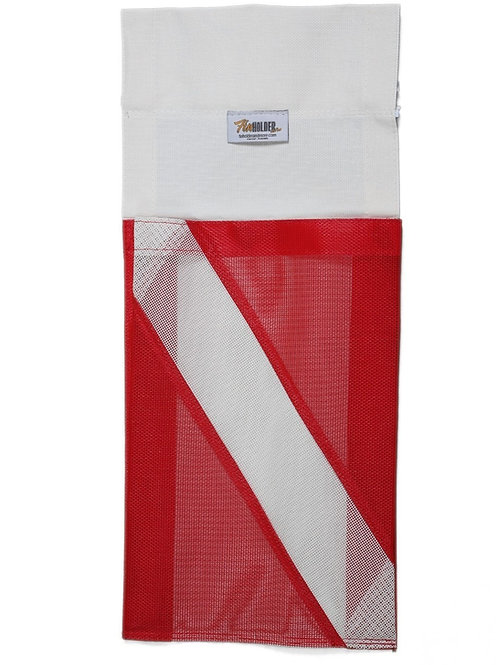 ONE POCKET DIVE FLAG MODEL WITH ZIPPER POCKET.