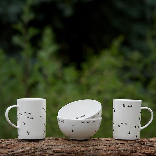Breakfast Set; 2 bowls & 2 mugs (2 skåle & 2 krus) - Webshop Only