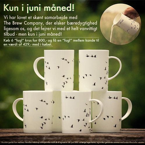 6 Mug (Krus) 6 & 1 Middle Jug (Mellem kande)