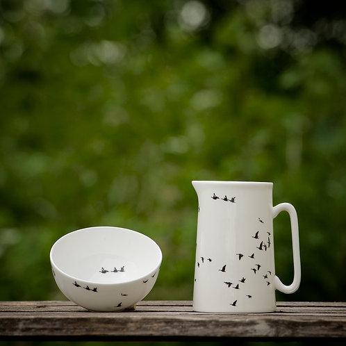 Hygge Set; middle jug & bowl (mellem kande & skål)