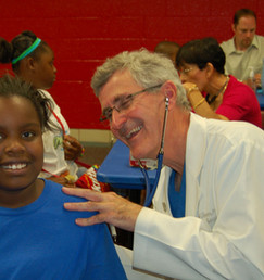 Dr. Garber and patient