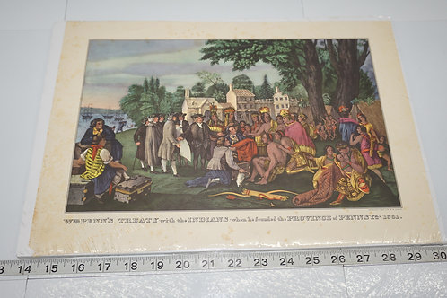 Early 1900s Print - Penn's Treaty With The Indians