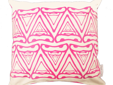 Abstract Triangle Patterned Cushions | Guess where this pattern comes from!