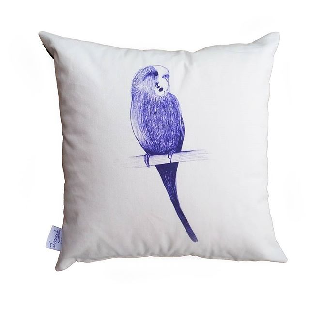 2ageya8__#handmade #budgie #cushion #blue #classic #traditional #c