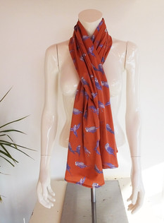 Coral Budgie Scarf
