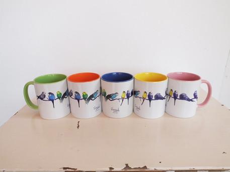 Budgie Mugs by Jenny K Home