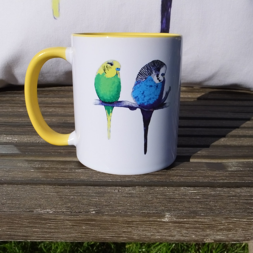 Jenny K Home Budgie Mugs Colourful Yellow Summer 7-min