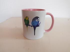 Pink Budgie Mug - Too Cute!