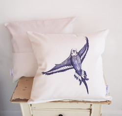 Flying bird cushion
