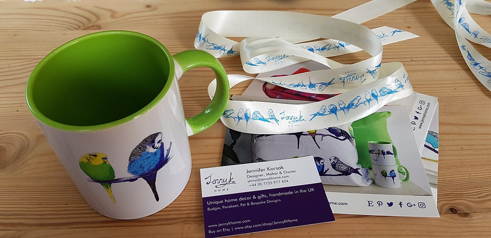Jenny K Home customer review budgie mug Norway