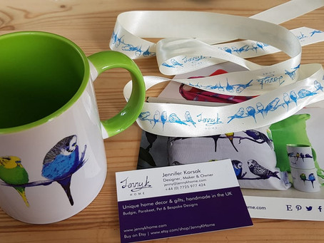 Jenny K Home Budgie Mug Gets 'Thumbs-Up' from Norway Customer