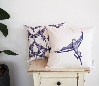Rustic country style budgie cushions