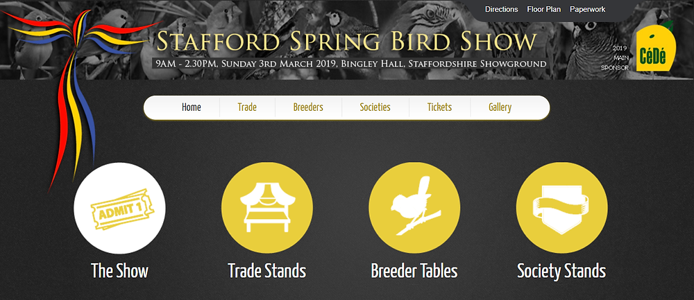 Stafford Spring Bird Show 2019 - Jenny K Home Attending