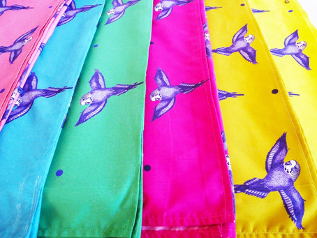 New Bright and Colourful Budgie Scarves!