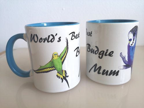 'World's Best Budgie Mum' mug