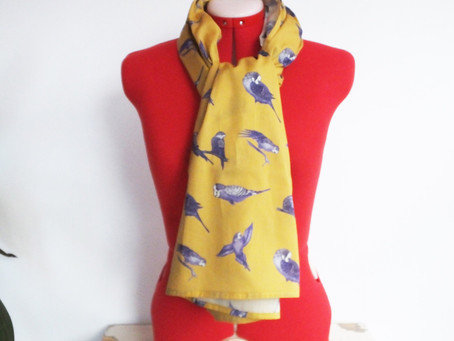 New Range of Budgie Scarves - Find the perfect Christmas gift for budgie lovers!