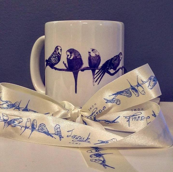 Customer review Jenny K Home budgie mug