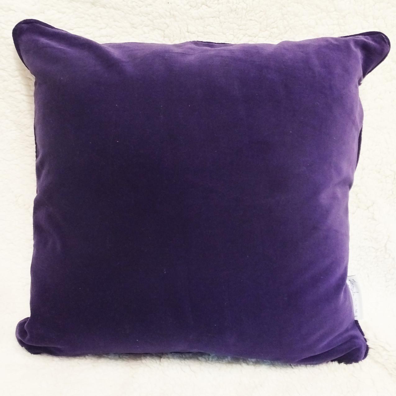 Jenny K Home Aviary Group Budgie Bird Cushion Purple Velvet Piping Cotton 2