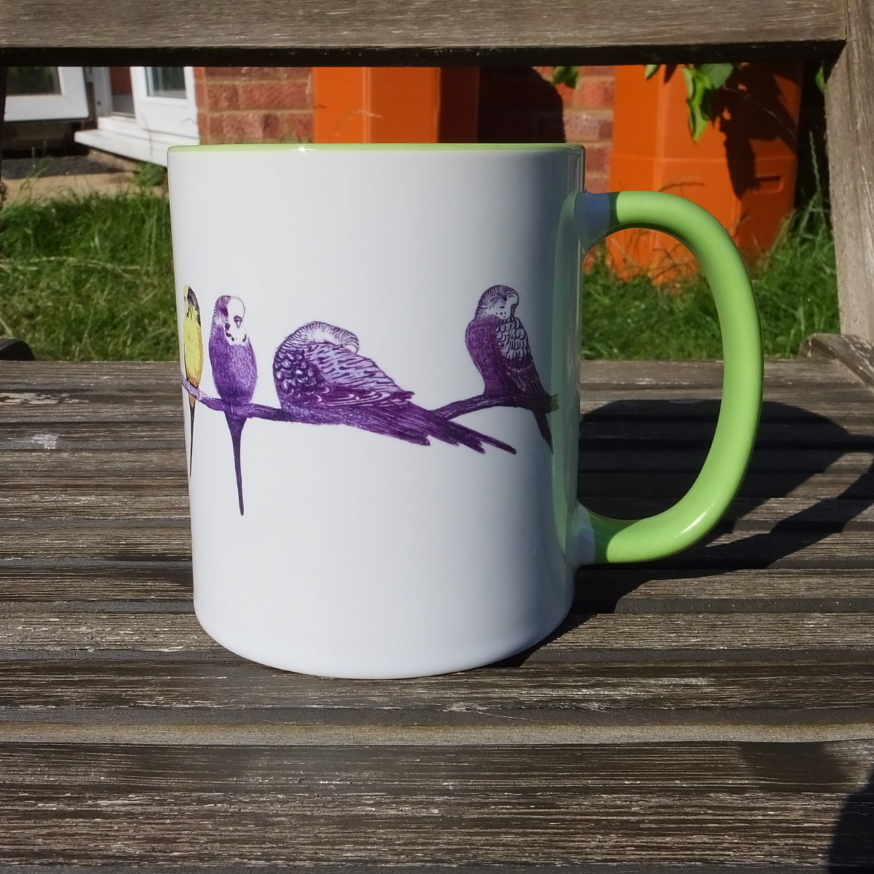 Green Budgie Mug