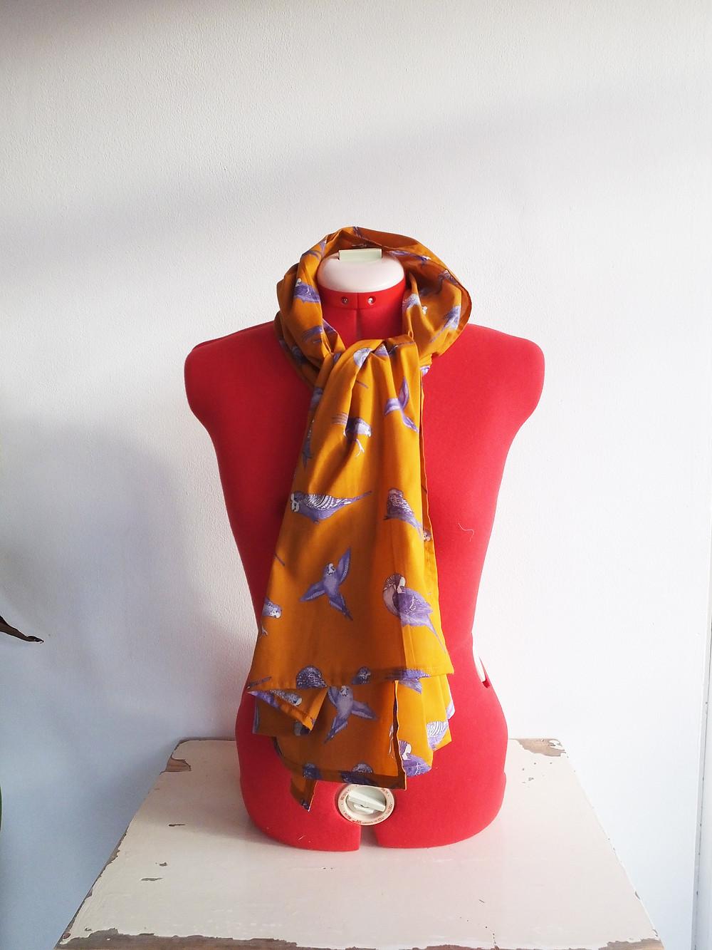 Budgie scarf