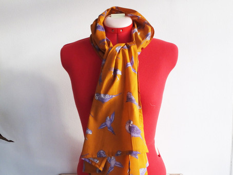 Jenny K Home Budgie Scarves Achieve 5-Star Reviews on Etsy