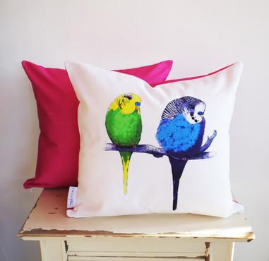 Jenny K Home budgie cushion pillow hot p