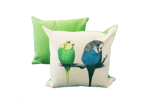 Another 5-Star Review for Jenny K Home Budgie Cushion Cover