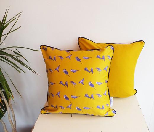 Mustard Gold Budgie Cushion 45cm