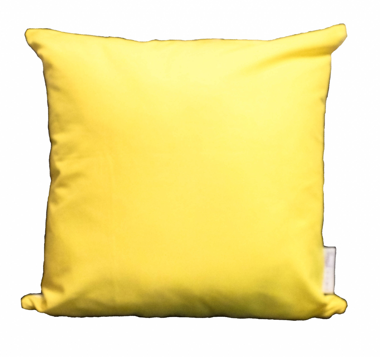 Happy Budgie Yellow Cushion Throw Pillow - reverse square (1 of 1)