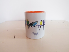 Orange Budgie Aviary Mug