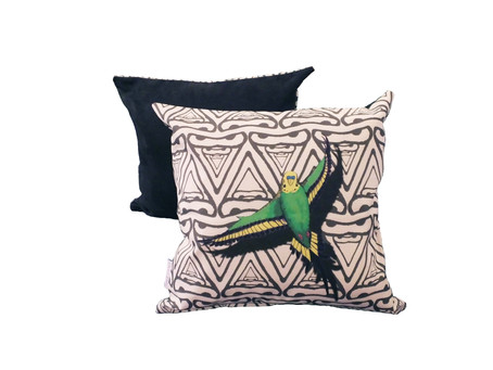 Perfect Pops! Monochrome Patterned Colour Pop Budgie Cushions