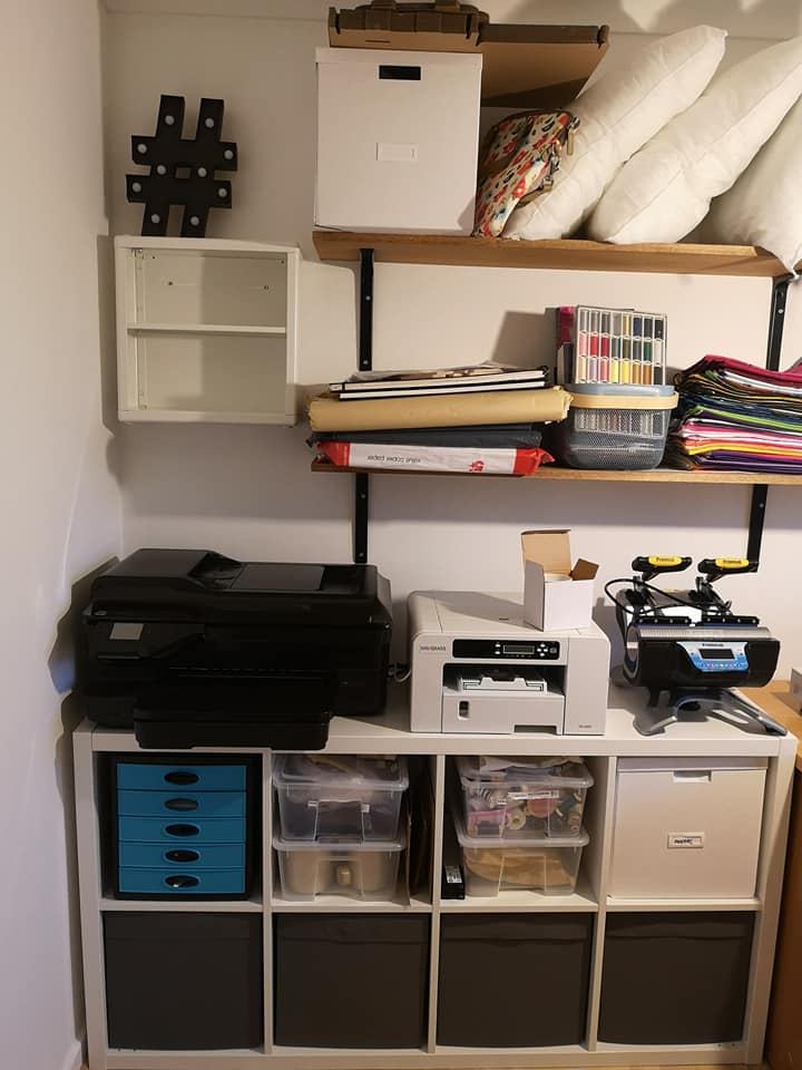 The printing station and heat press