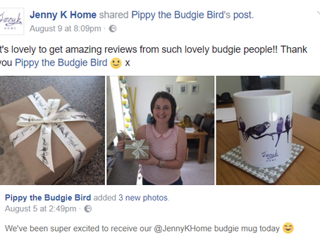 5-Star Budgie Mug Review from Pippy the Budgie Bird – Jenny K Home Budgie Mugs on Etsy